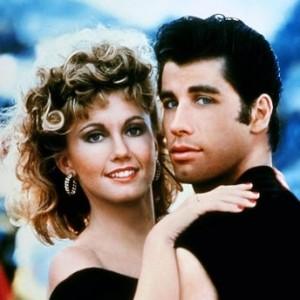 americký herec John Travolta ve filmu Pomáda s herečkou Olivia Newton John