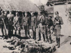 Polští farmáři zabití německými silami, Německem okupované Polsko, 1943