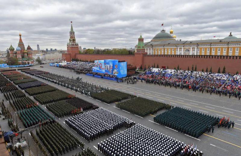 Vojenská přehlídka vítězství na Rudém náměstí