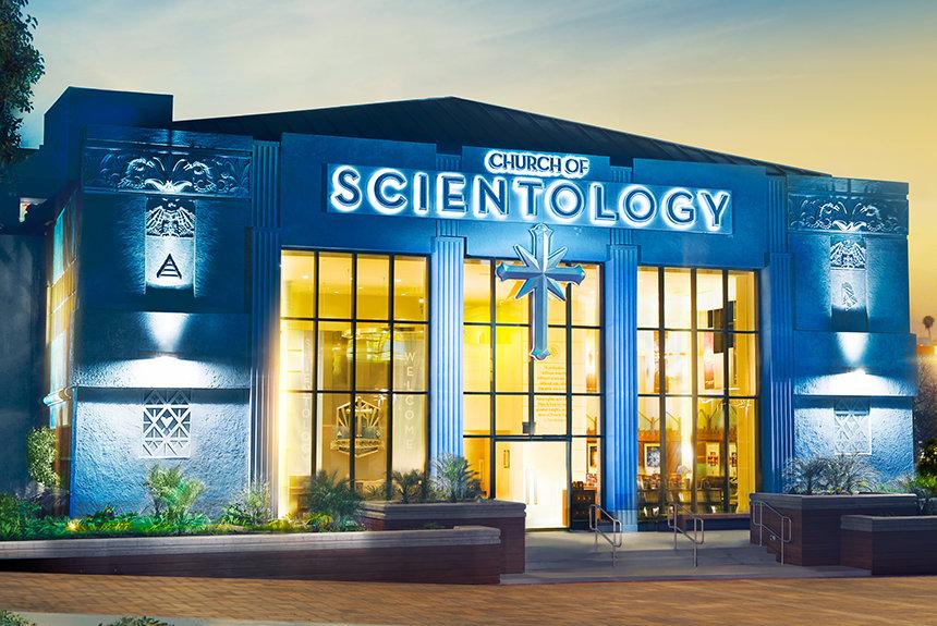 Scientologická církev Los Angeles exteriér